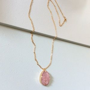 Jewelry - Bohemian Gold Rose Pendant Long Necklace NEW